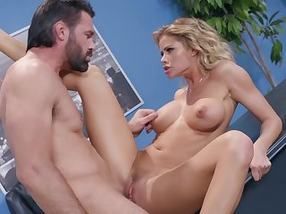 Jessa Rhodes tries steamy sex at the office