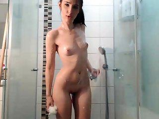 Hot Brunette Webcam Girl Nearby The Shower Part 1