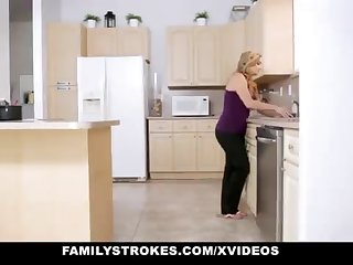 FamilyStrokes - Warm Step-Sister And Maw Tricked And Romped By StepBro