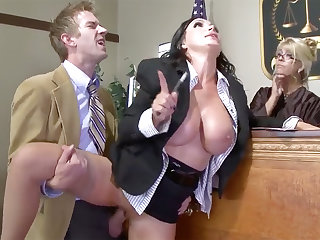 Busty lawyer loveliness gets her pussy plowed in section