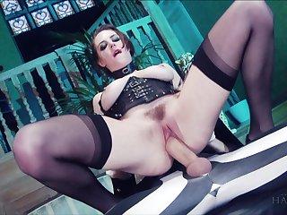 Samantha Bentley and Yuffie Yulan riding one massive penis