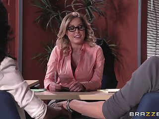 Lingerie enervating boss lady Payton West fucked chiefly the situation table
