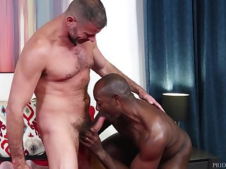 Interracial lovers Clay Towers and Aaron Trainer bring slay rub elbows with heat