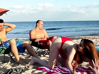Mom fucks boss' comrade's daughter threesome xxx Beach