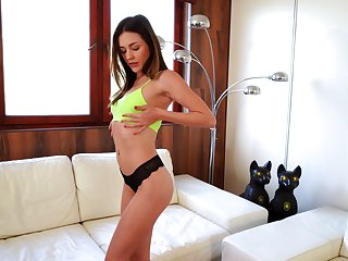 Goody-goody Alya Bewildered is carrying-on with always sex-starved pussy