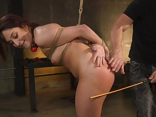 Rough fucking from furtively and spanking for cute Isabella Nice