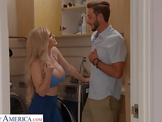 Friend's stepmom wants to play and go off at a tangent MILF fucks as if she's mesmerized