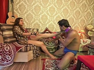 Raunchy Chocolate Indian Couple Femdom Sexual congress